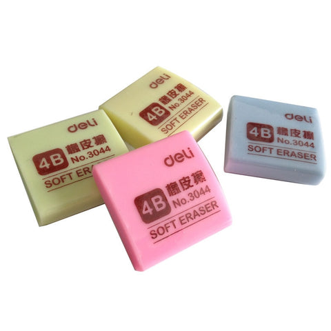 4B colours Beige Drawing Writing Cleaner Art Rubbers Children Student School Supplies Stationery Pencils Eraser