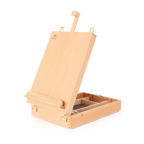 HBX-11 Portable Beech Sketch Box with Easel 36*27*11.5cm Wood Color