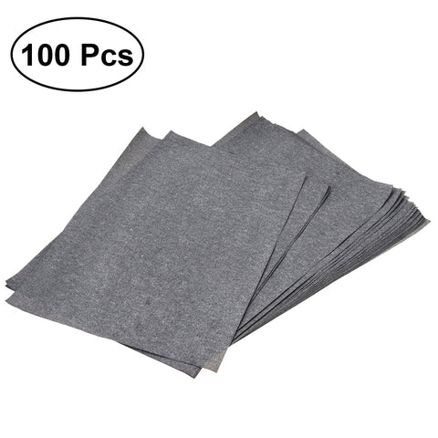 Transfer Paper Tracing Paper Graphite Carbon Paper Painting Carbon Coated Paper (Gray and Black)