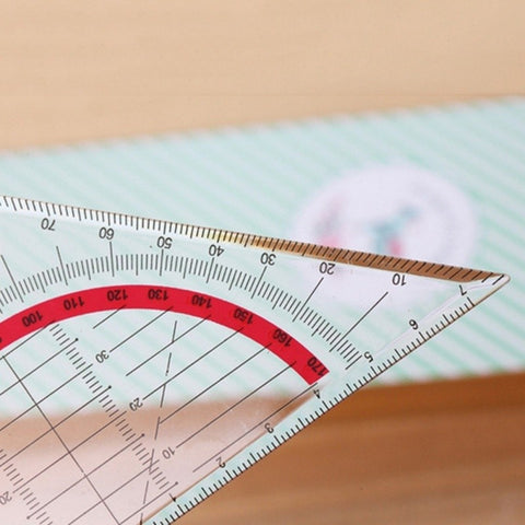 Multifunctional Plastic Triangle Ruler Triangle Plate Protractor Coordinate Ruler
