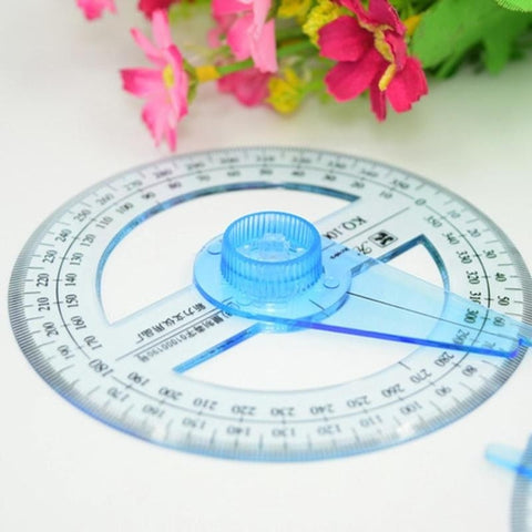 Hot Sale All Circular 10cm Plastic 360 Degree Pointer Protractor Ruler Angle Finder Swing Arm