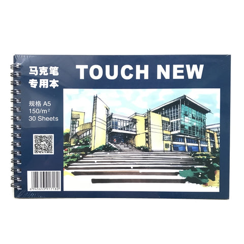 A5 Touchnew Markers Drawing Book 30 Sheets Notebook Paper Marker Pad Sketch Book School Art Supplies