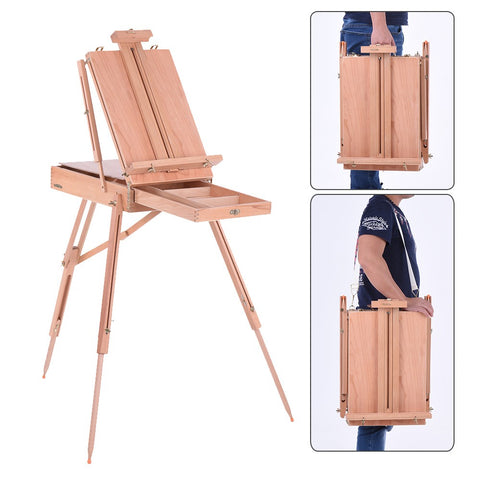 Professional Folding Art Artist Wood Wooden Easel Paint Sketch Drawing Box Tripod Stand for Oil Painting Sketching