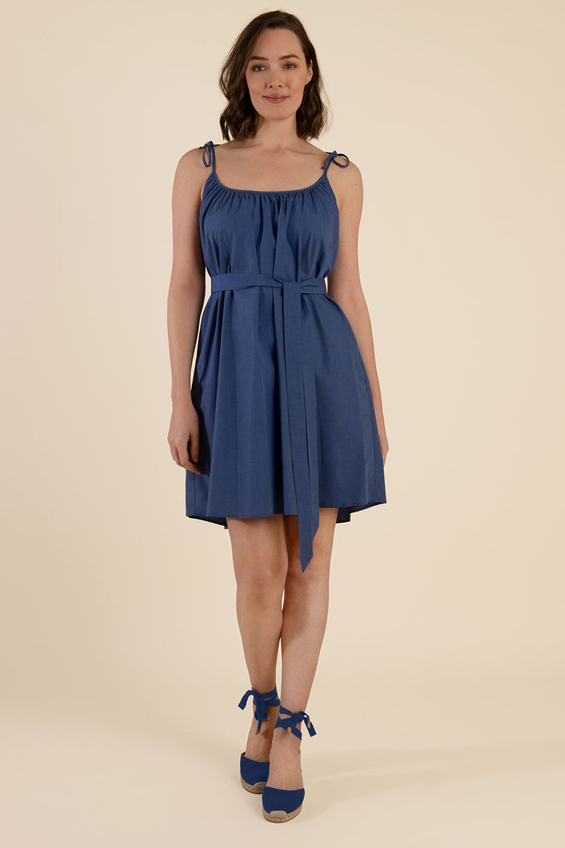 Belted Cotton Dress - Cat Turner
