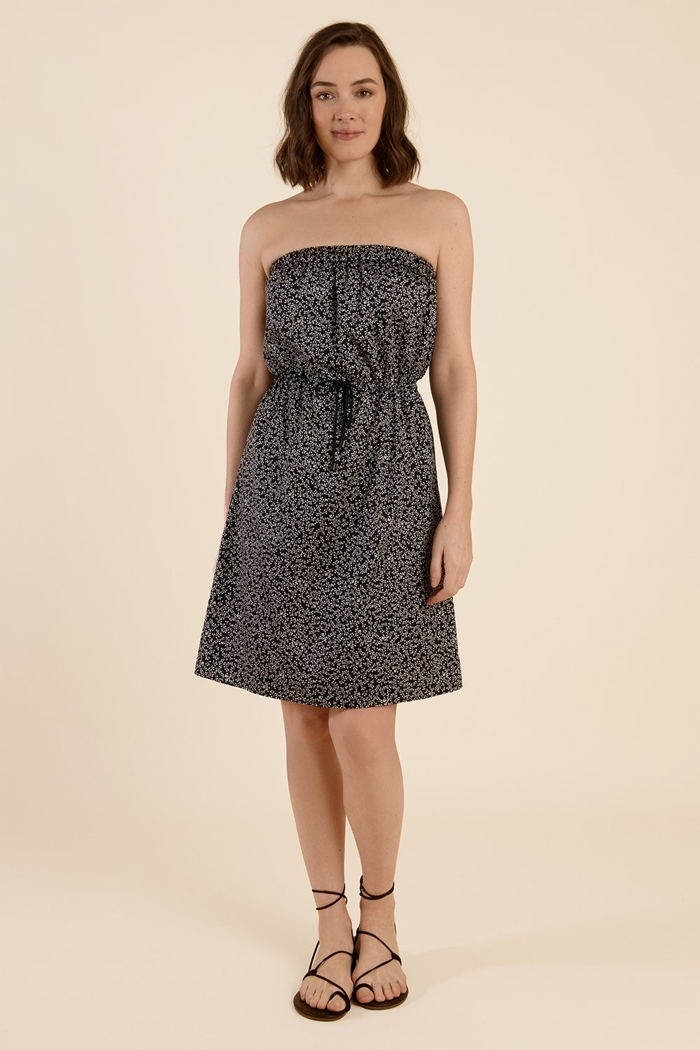 Strapless Cotton Dress