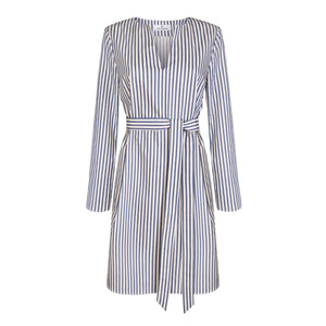 Blue and White Kaftan Dress - Cat Turner London