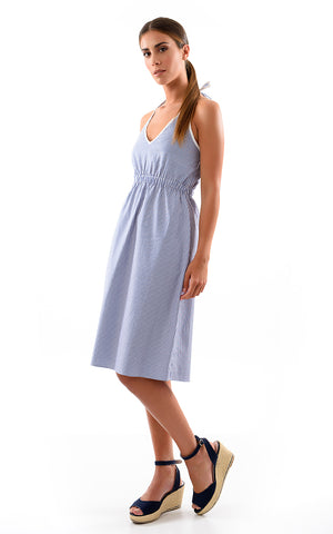Cotton Halterneck Summer Dress - Cat Turner