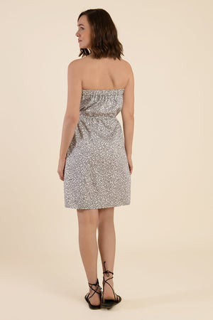 Strapless Cotton Dress  - White - Cat Turner
