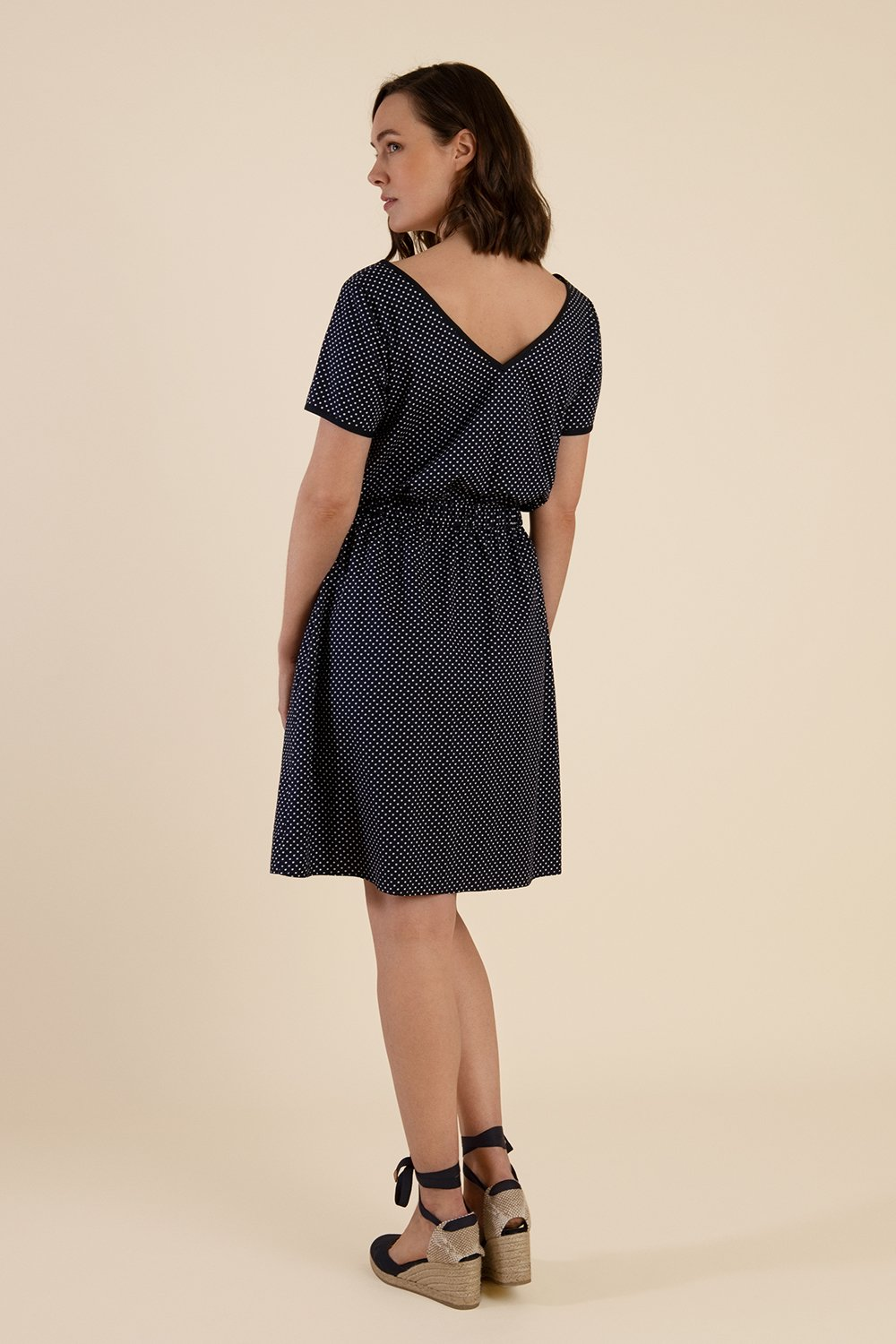 Navy Summer Dress With Pockets
