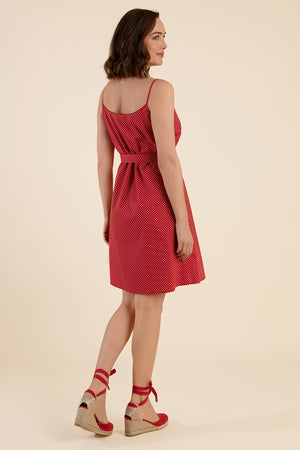Red Polka Dot Summer Dress - Cat Turner