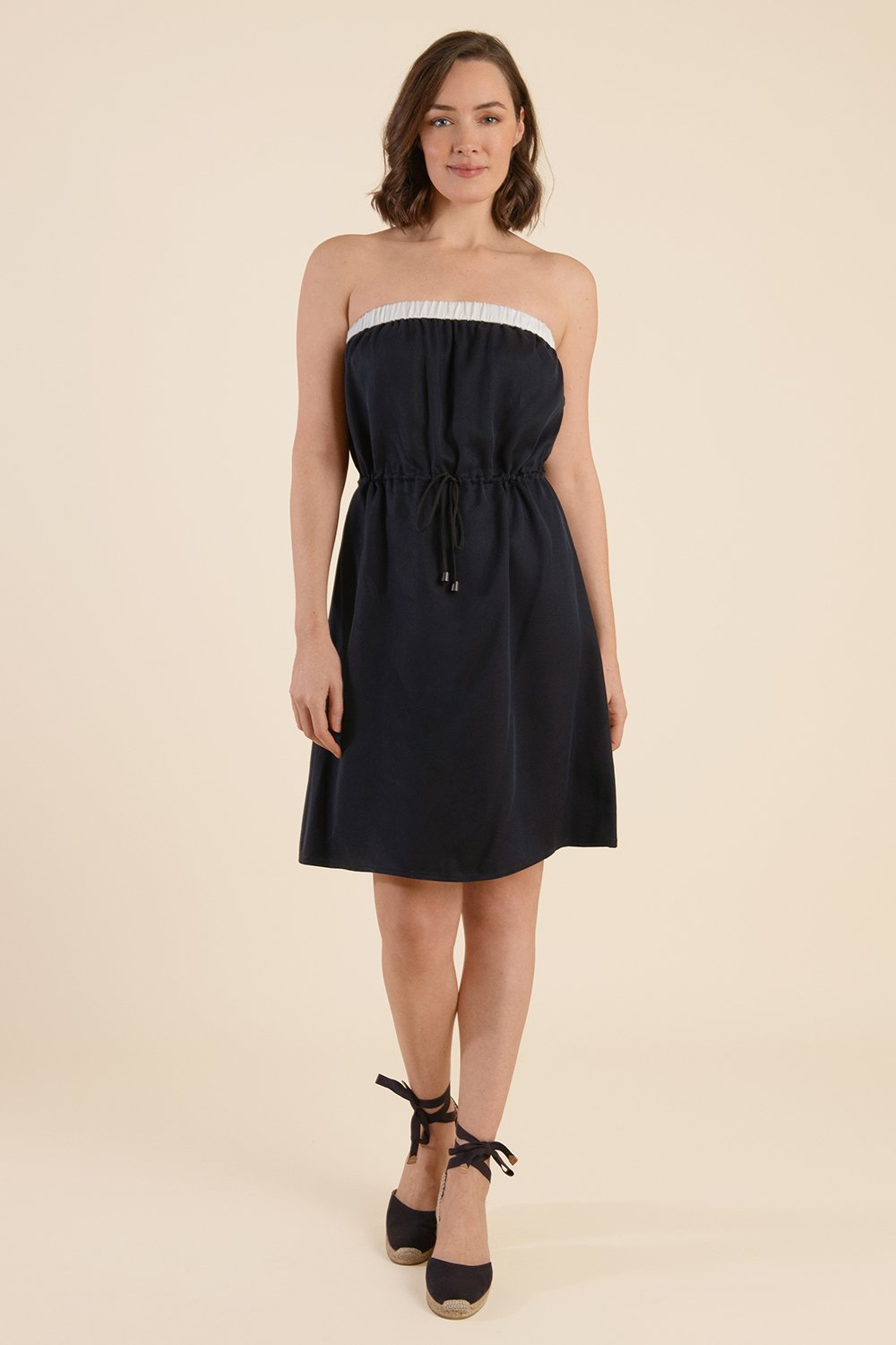 Strapless Summer Dress - Midnight Blue - Cat Turner