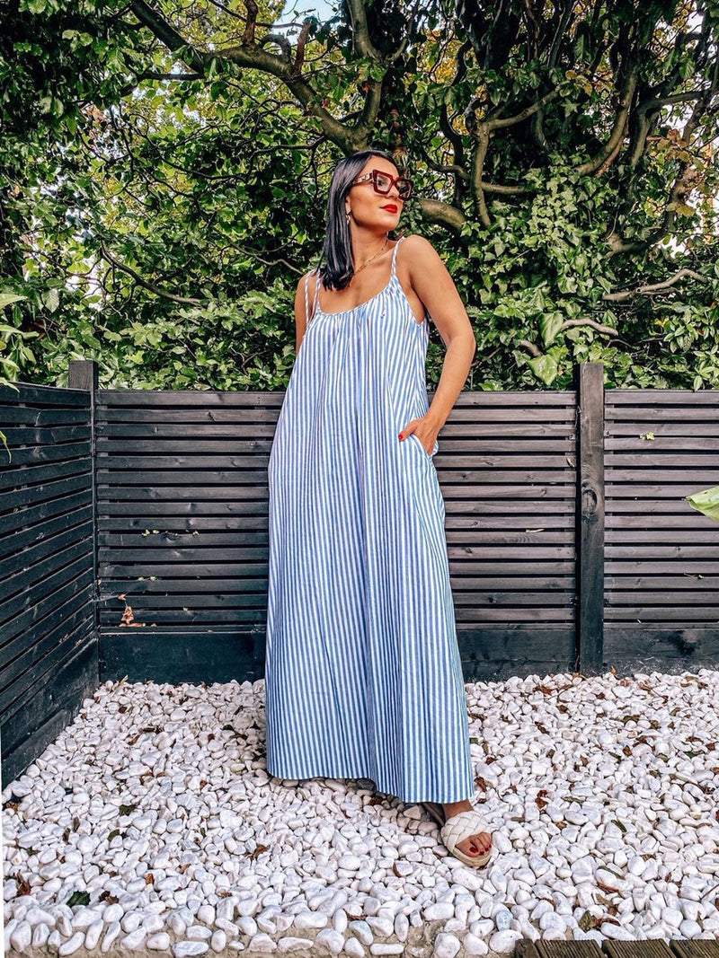 Summer Maxi Dress With Stripes - Cat Turner London