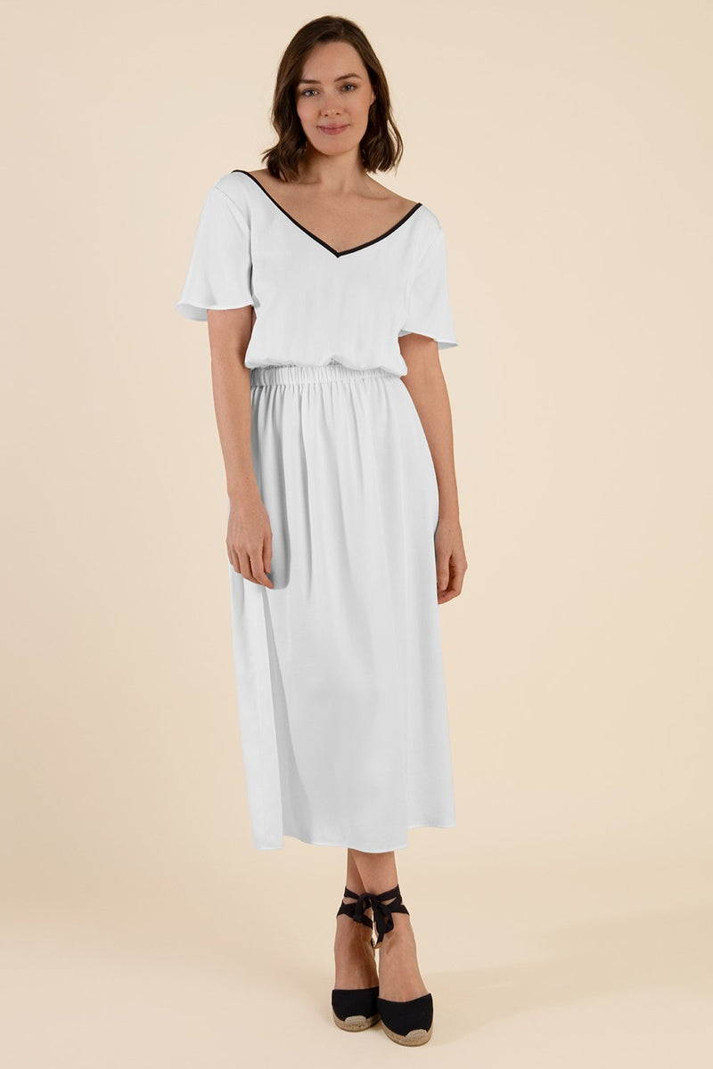 White Tencel Dress - Cat Turner