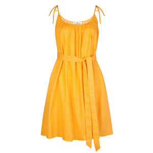 Yellow Polka Dot Dress - Cat Turner London