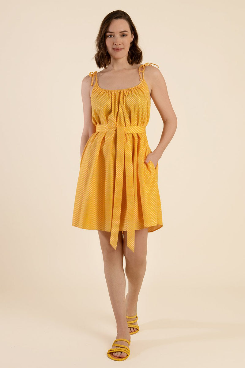 Yellow Polka Dot Dress - Cat Turner