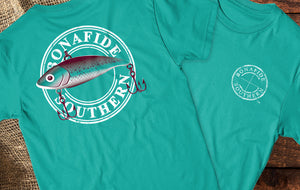Bonafide Fishing Lure Short Sleeve Crewneck T-shirt