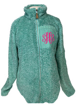 Load image into Gallery viewer, Mint Full Zip Sherpa with Faux Pocket