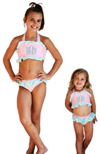 Load image into Gallery viewer, Infant & Toddler Seersucker 2 Piece Ruffle Swimsuit