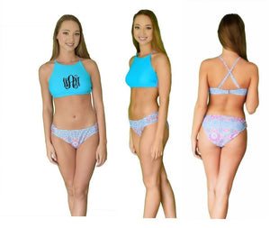 HIgh-neck Halter 2 Piece Swimsuit
