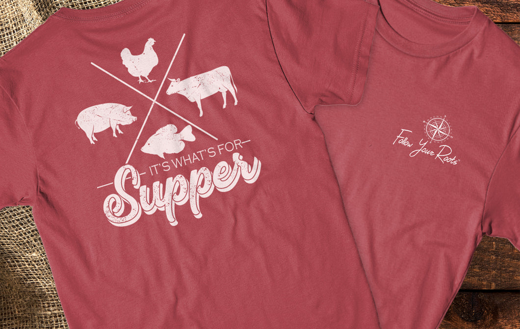 It's What's For Supper Short Sleeve Crewneck T-shirt