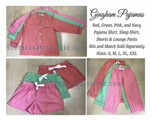 GINGHAM PAJAMA SHORT SETS