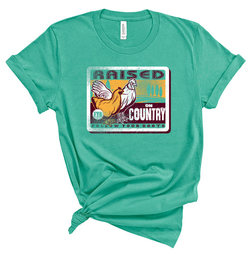 Raised on Country Short Sleeve Crewneck T-shirt