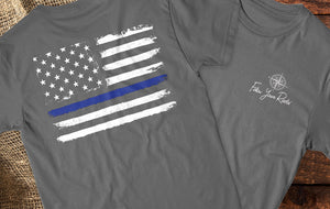 Thin Blue Line Comfort Color Tee