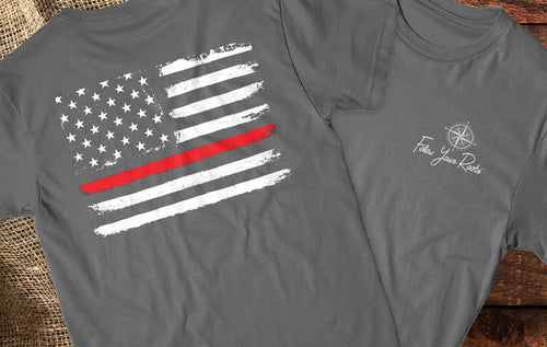 Thin Red Line Comfort Color Tee