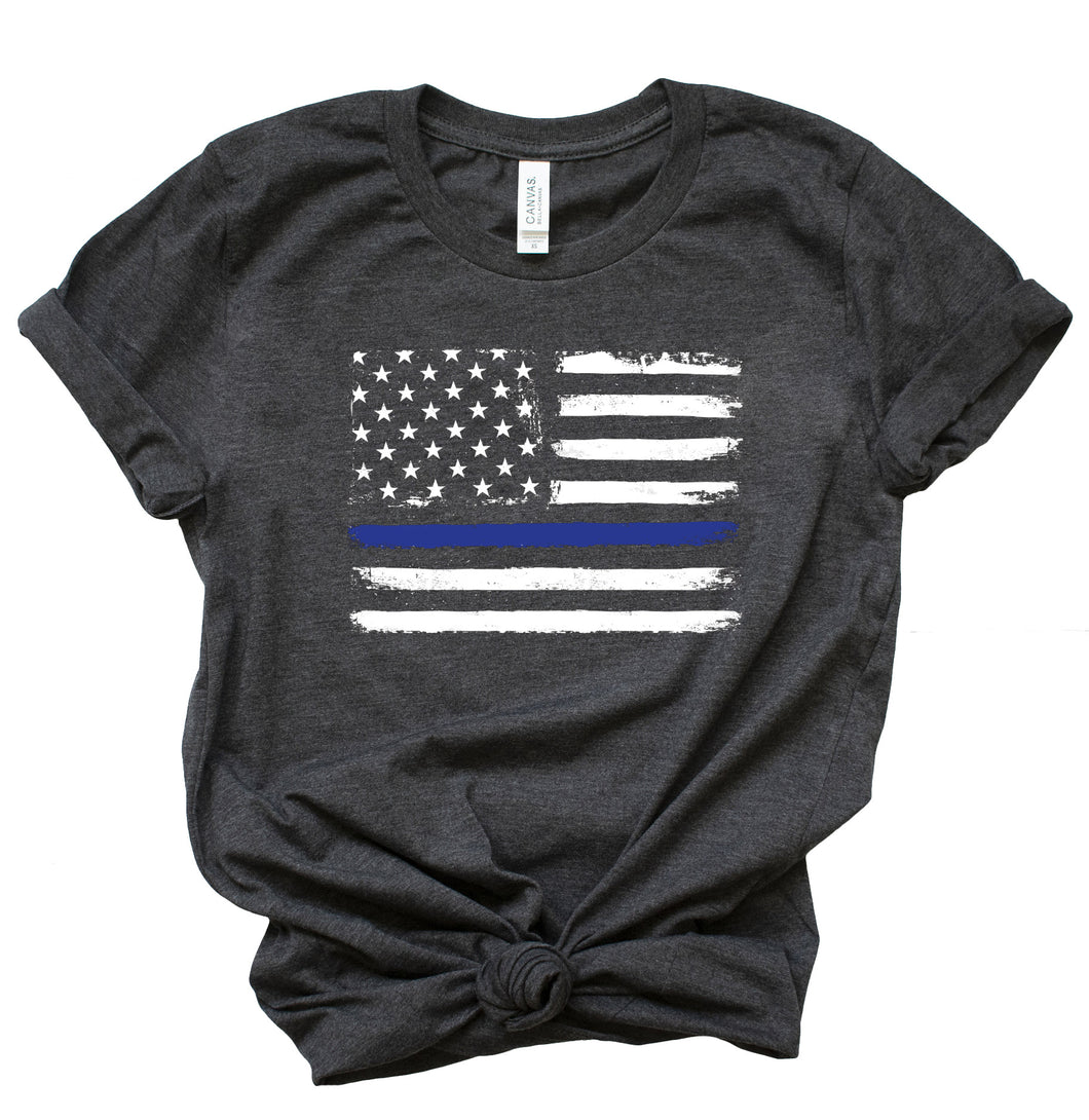 Thin Blue Line Short Sleeve Crewneck T-shirt