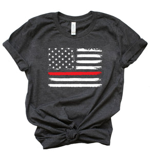 Thin Red Line Short Sleeve Crewneck T-shirt