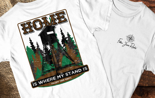 Home Is Where My Stand Is Short Sleeve Crewneck T-shirt