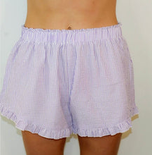 Load image into Gallery viewer, Seersucker Ruffle Shorts