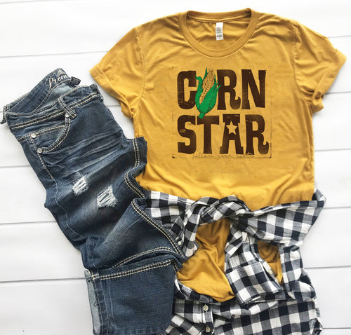Corn Star Short Sleeve Crewneck T-shirt