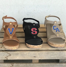 Load image into Gallery viewer, Adult Cork Wedge Sandals