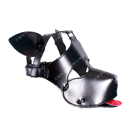 Leather Dog Bdsm Mask