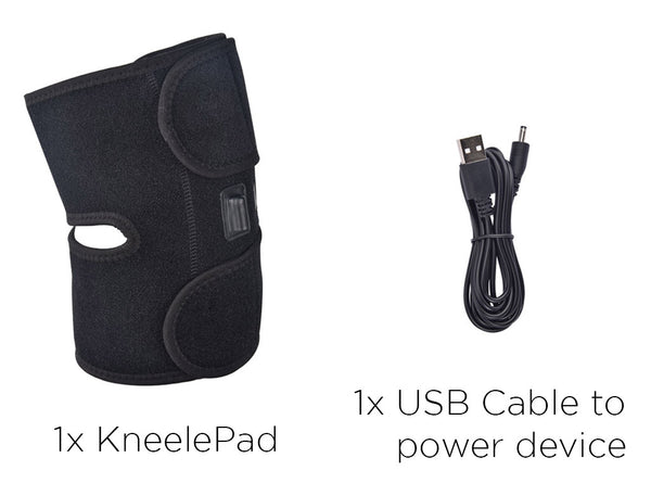 1x KneelePad, 1x USB Cable to power device