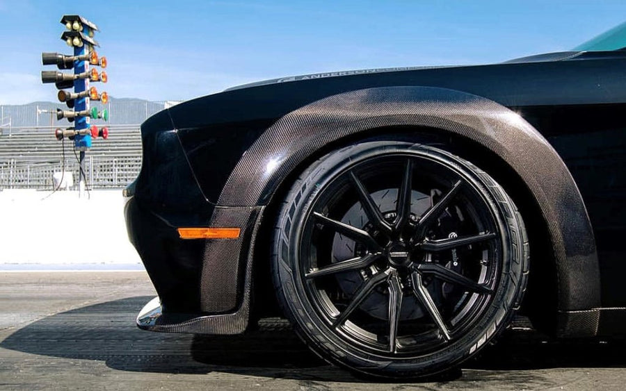 Anderson Composites DODGE CHALLENGER HELLCAT WIDEBODY / DEMON CARBON FIBER FRONT FENDER FLARE EXTENSIONS