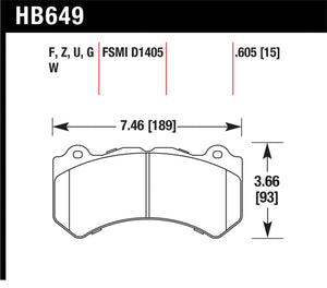 Hawk Performance HPS Front Brake Pads