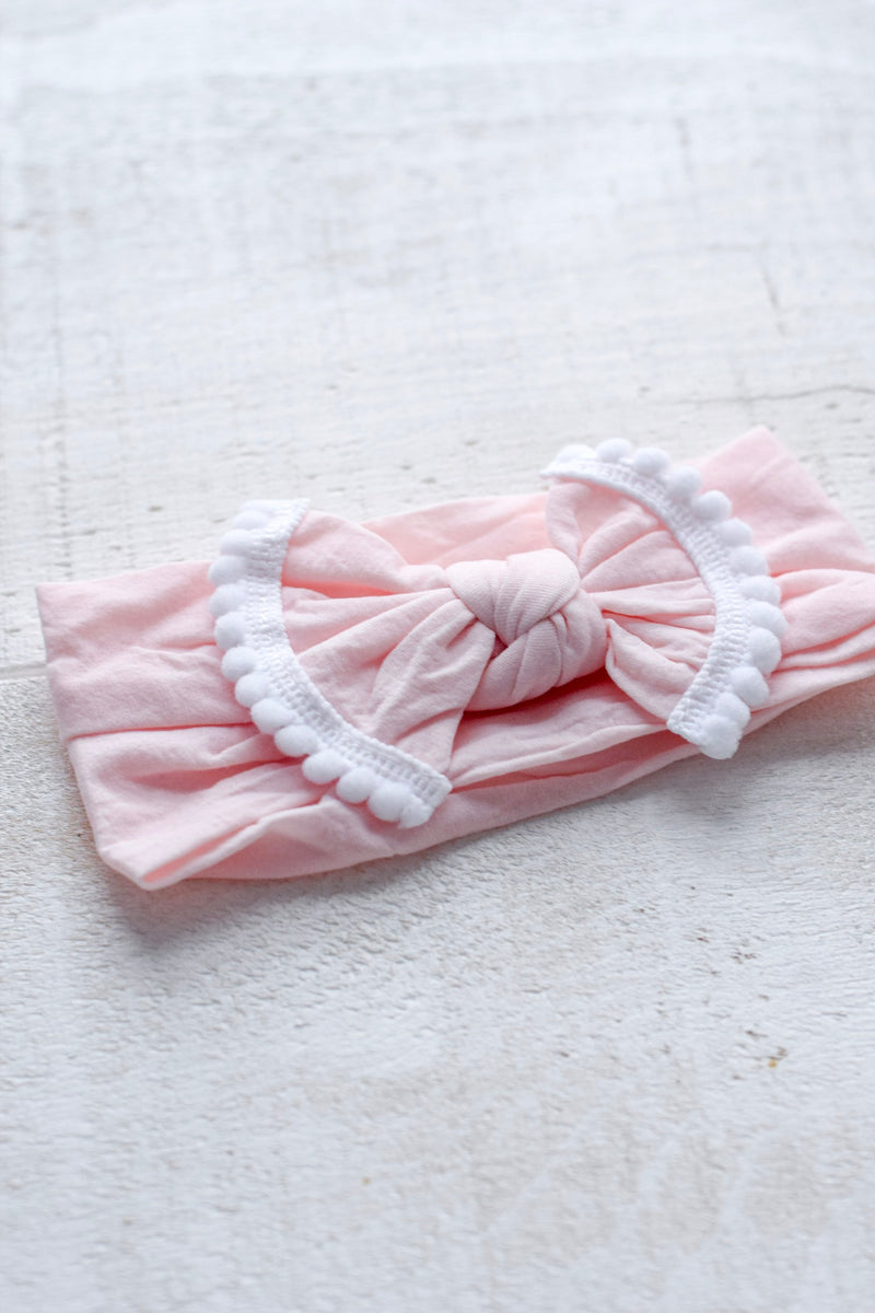 bandeau rose blush bebe enfant
