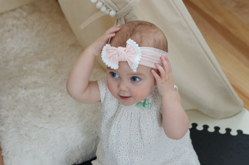bandeau rose blush bebe enfant 2
