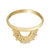 Sunbeam Crystal Ring in Gold
