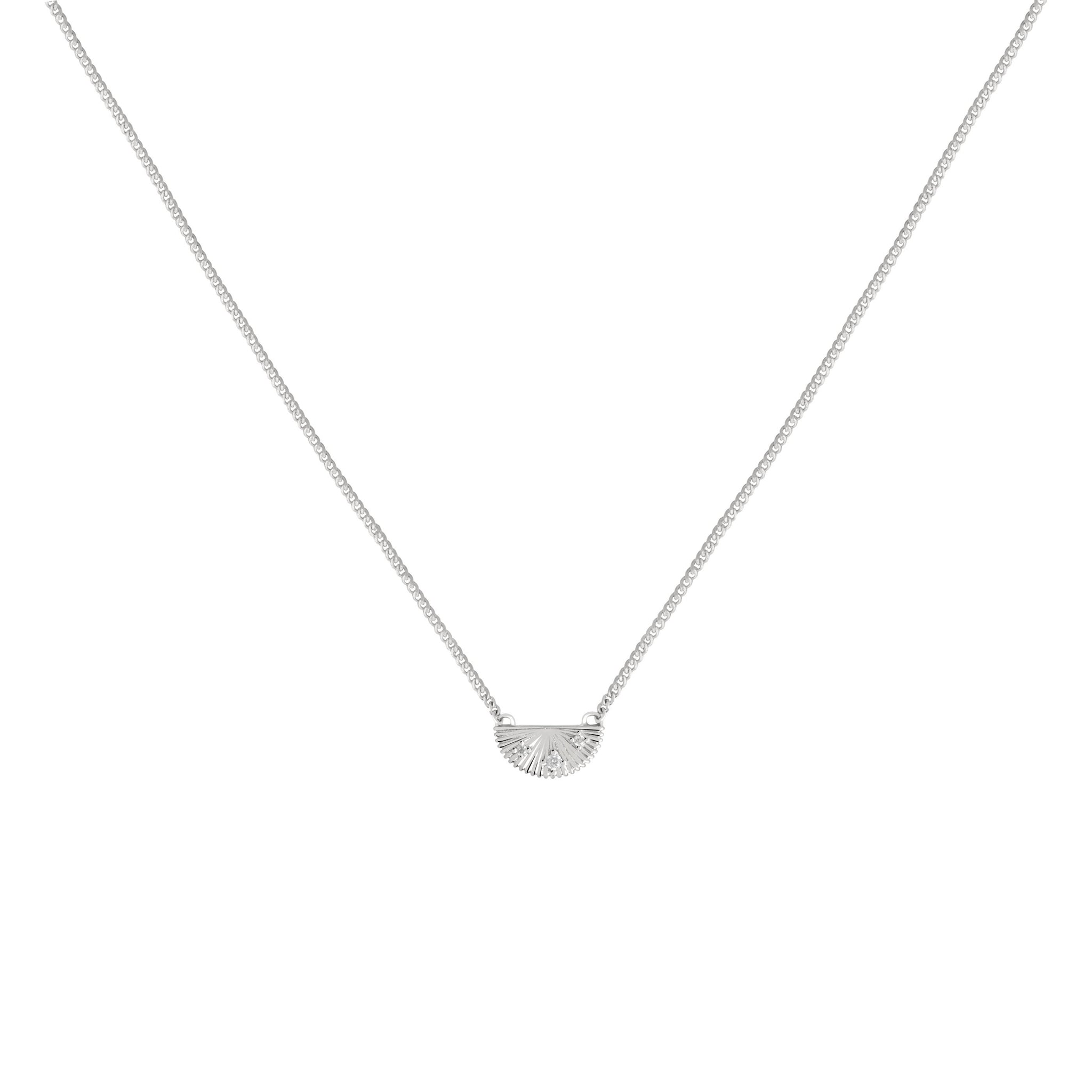 Sunbeam Pendant Necklace in Silver