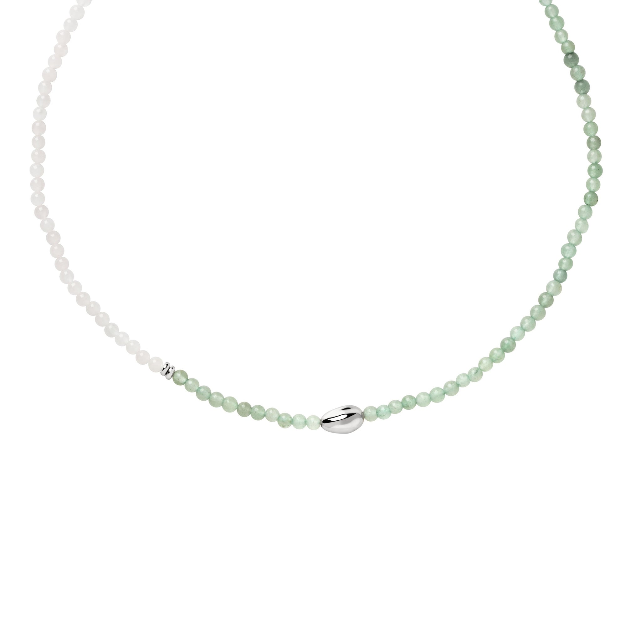 Harmony Aventurine Necklace in Silver