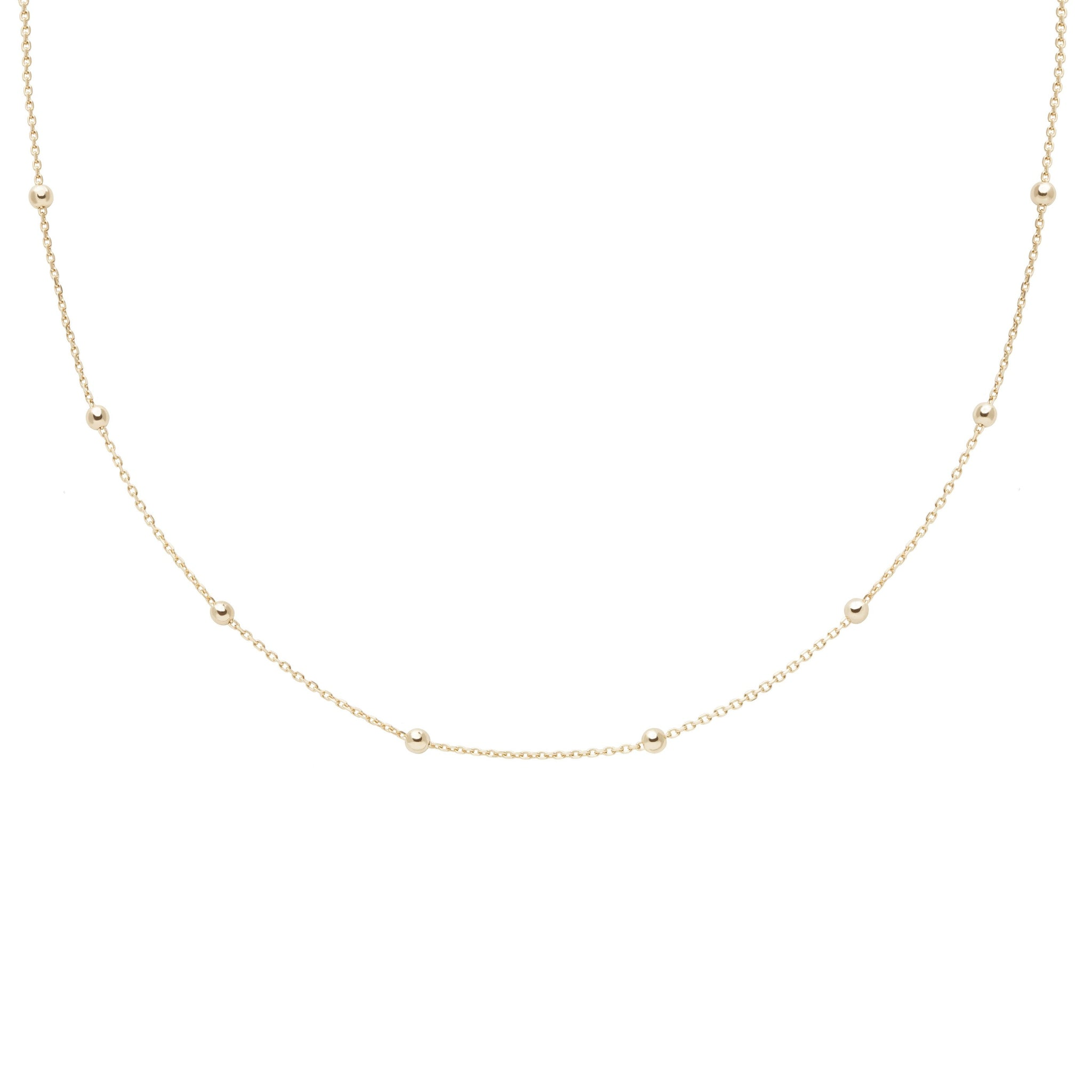 Basic Large Beaded Choker in Gold