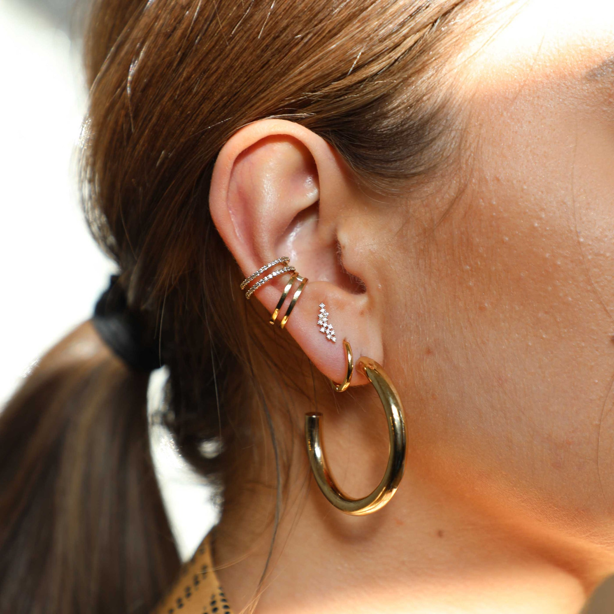 Wishbone Ear Cuff in Gold