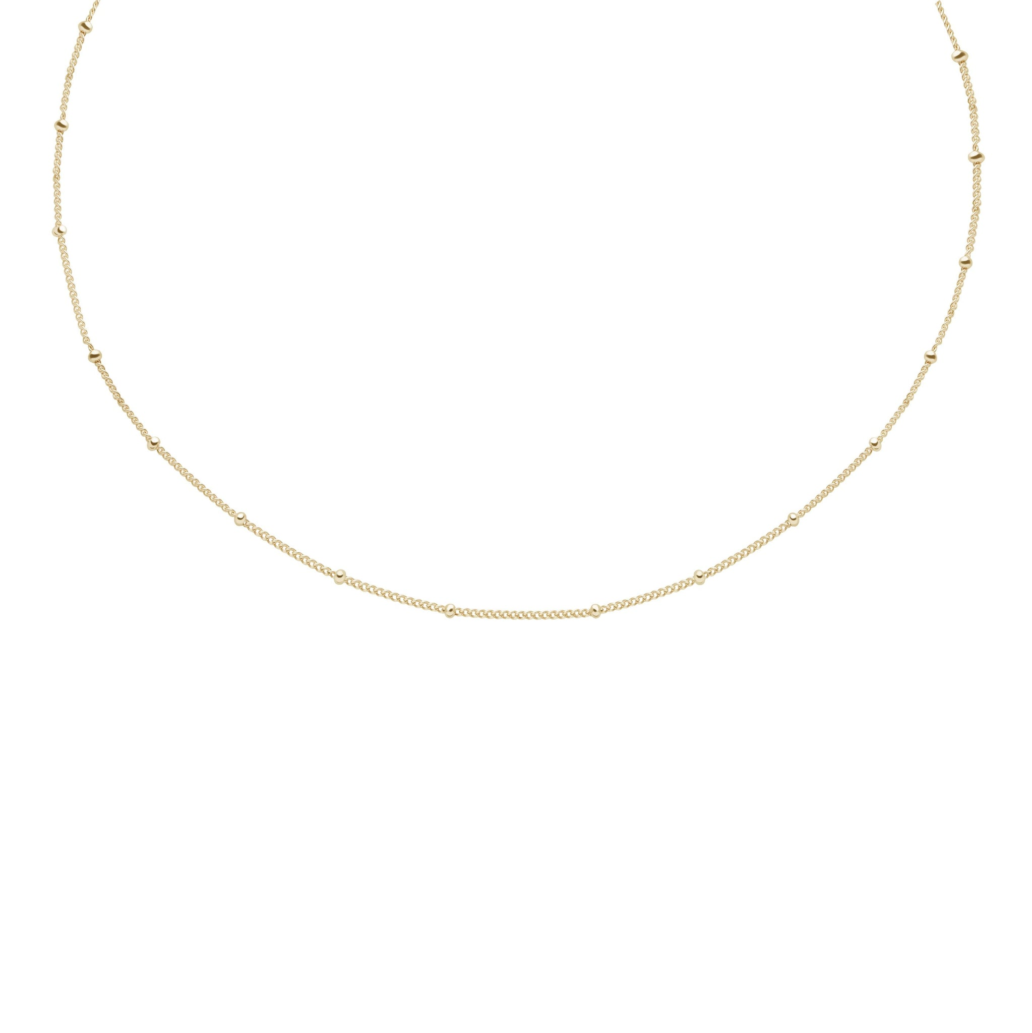 Basic Small Beaded Choker in Gold