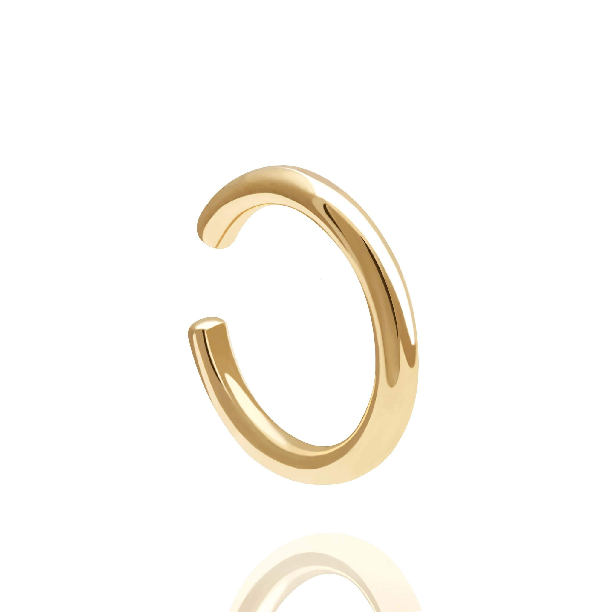 Sterling silver, 18k gold plated basic or plain ear cuff.  Edit alt text