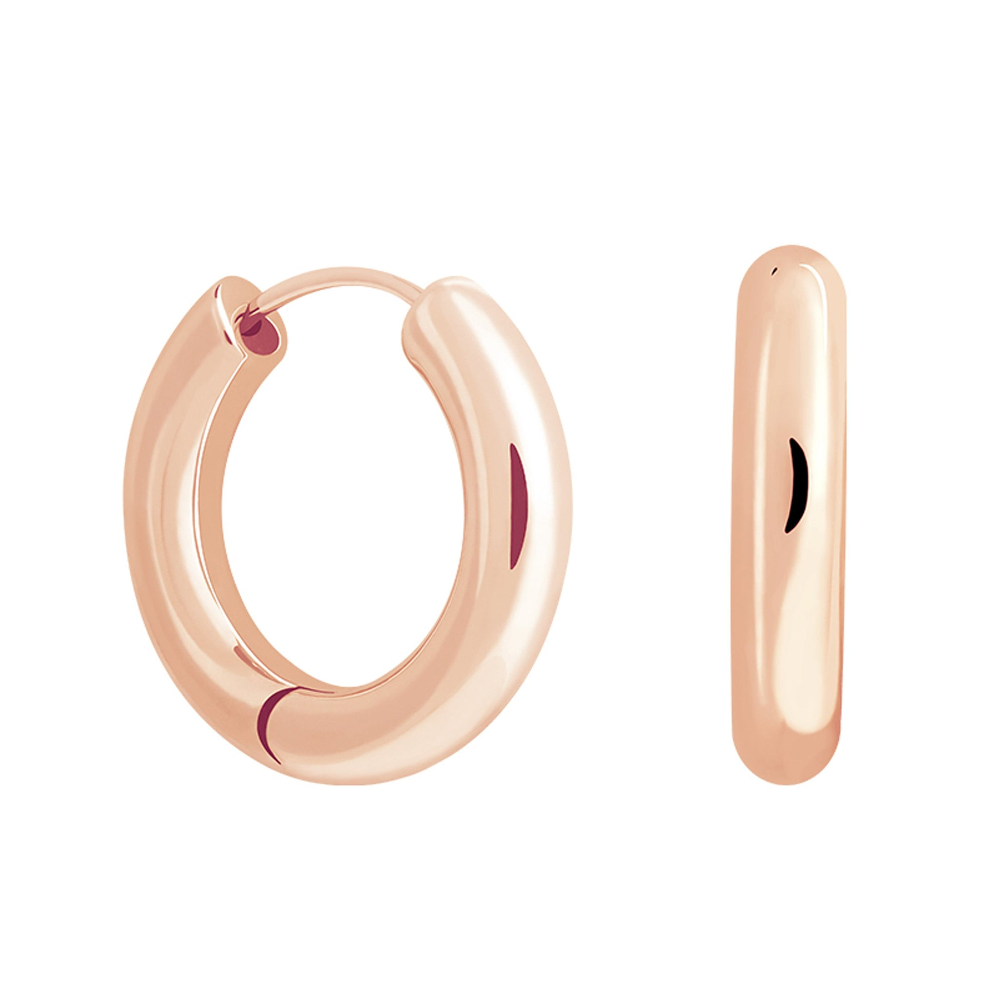 Chunky Hoops in Rose Gold