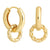 Rope Charm Hoops in Gold