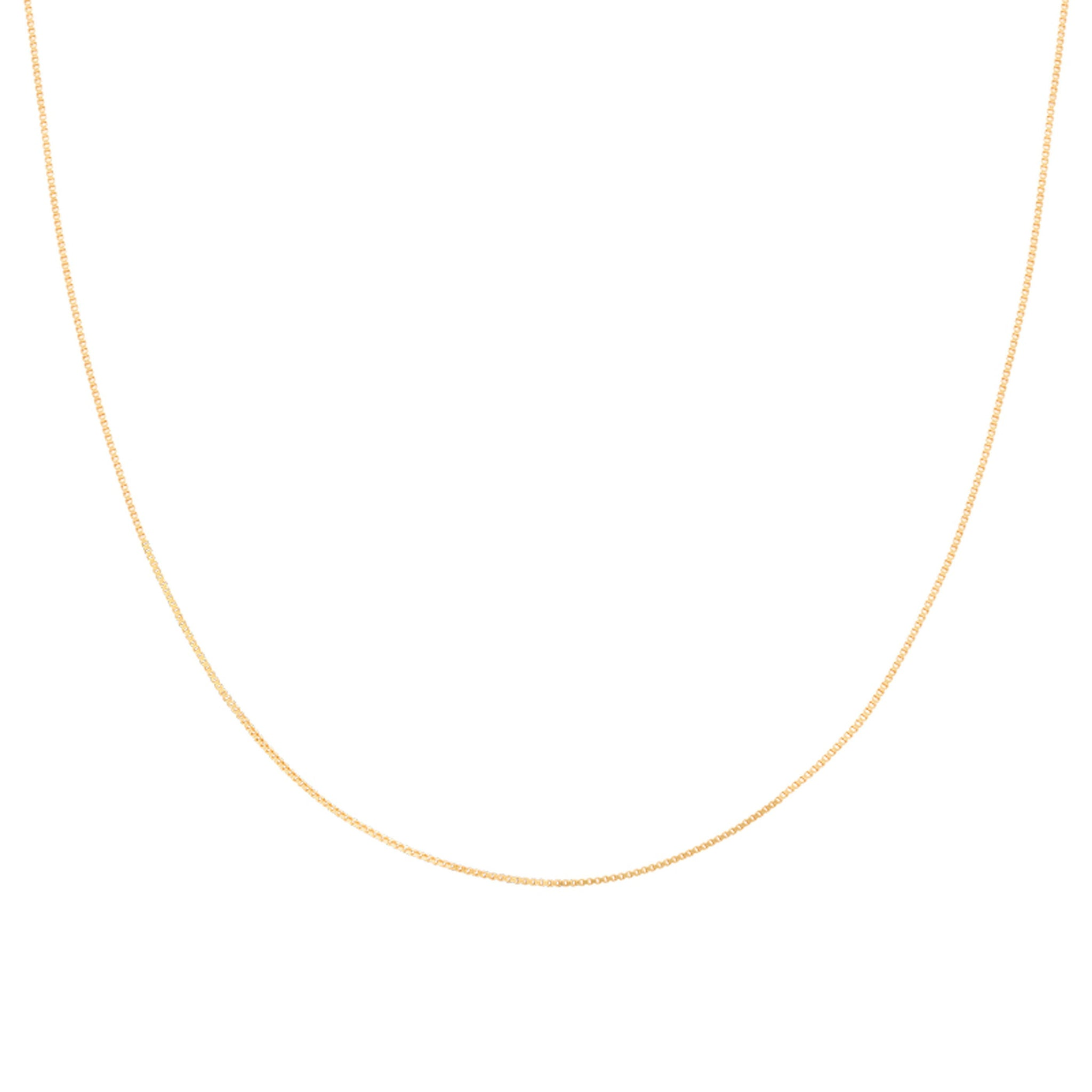 Fine Box Chain 40cm in Gold